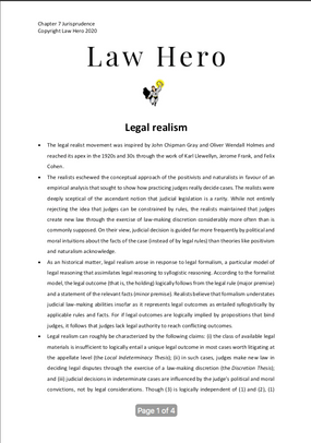Chapter 7 Legal realism