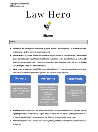 Company Law Shares