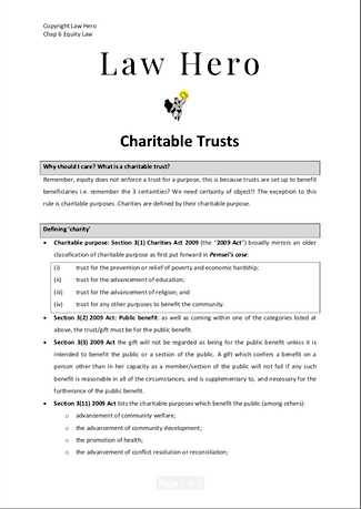 Chap 6 Charitable Trusts