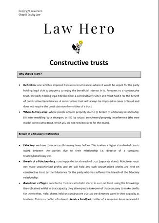 Chap 7 Constructuve Trusts