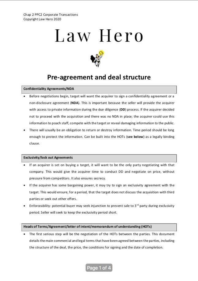 Chap 2 Pre-agreement