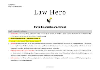 PPCM Part 2 Financial Management