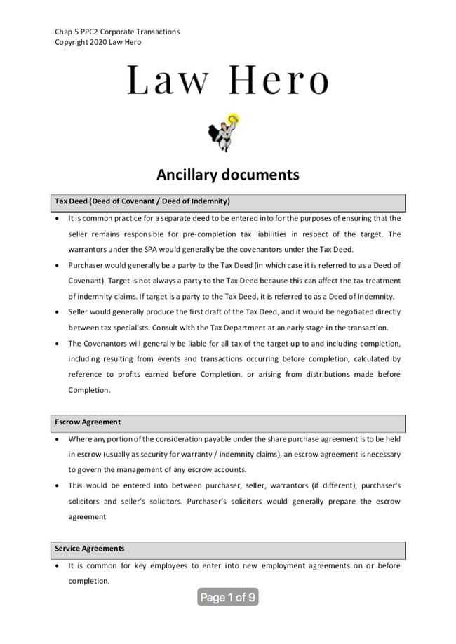 Chap 5 Ancillary documents