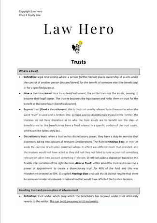 Chap 4 Trusts