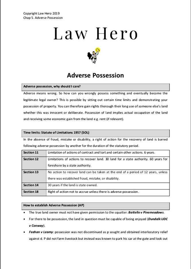 Chapter 5 Adverse Possession