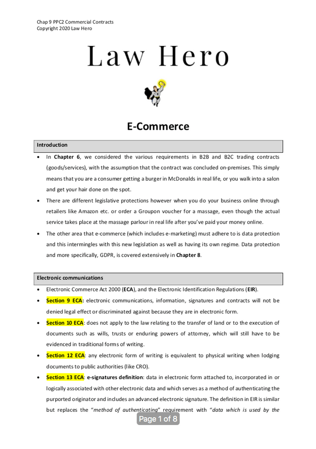 Chap 9 E-commerce