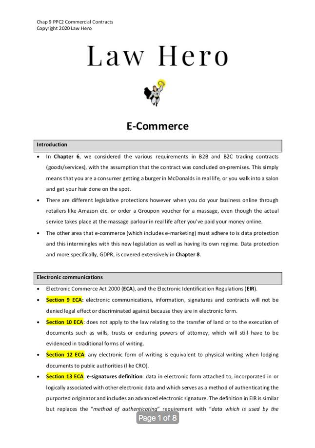 Chap 9 E-commerce