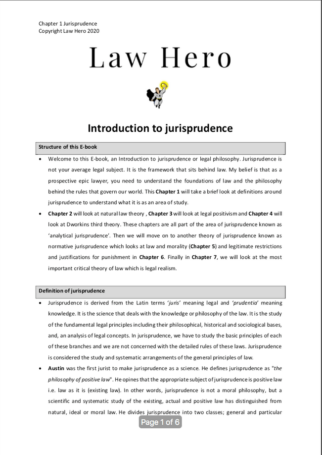 Chapter 1 Introduction to jurisprudence