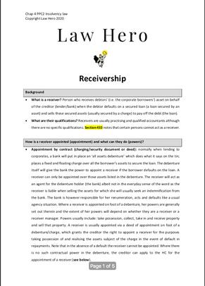 Chap 4 Receivership