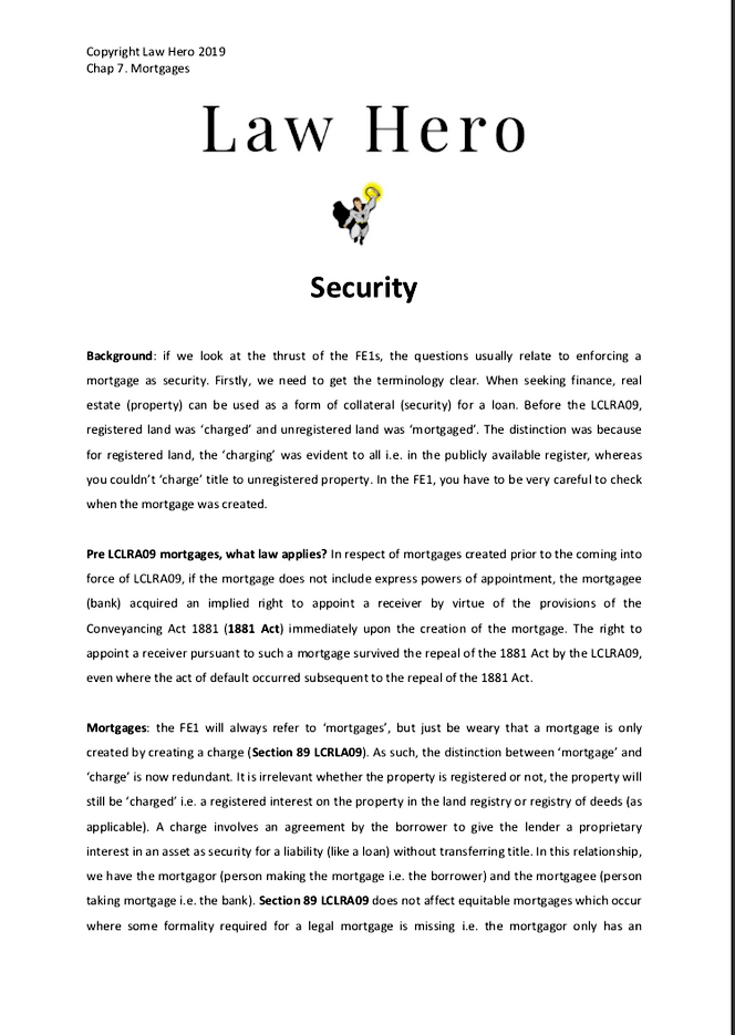 Chapter 7 Security