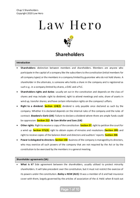 Chap 5 Shareholders