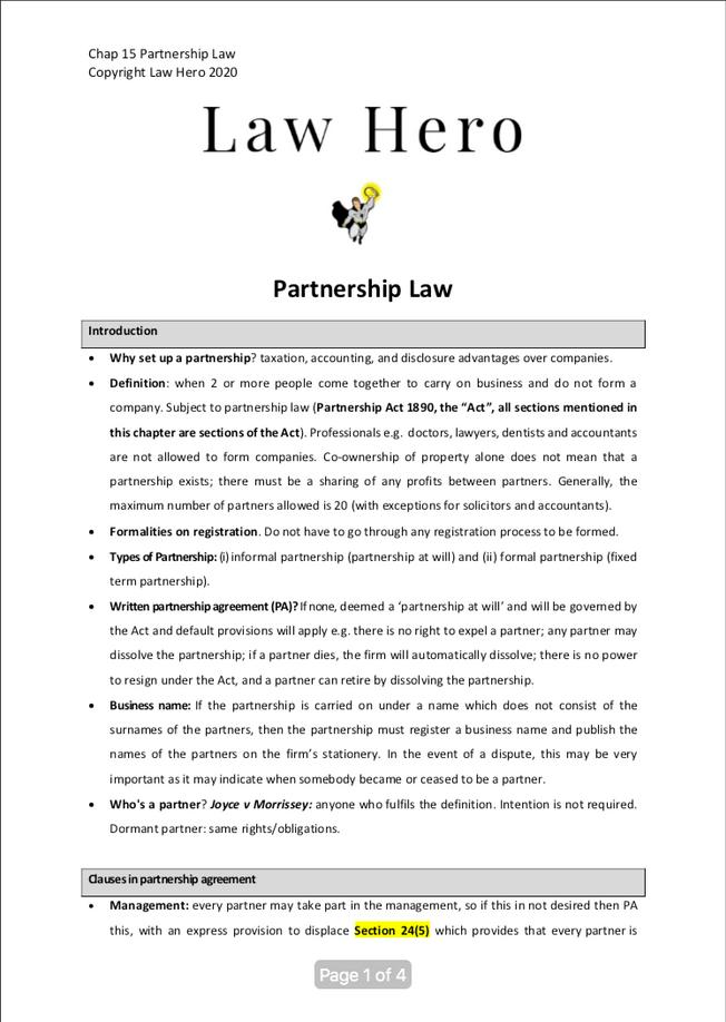 Chap 15 Partnership Law