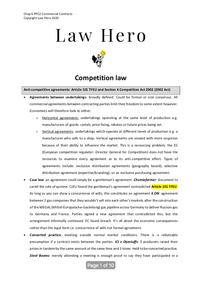 Chap 6 Competition law