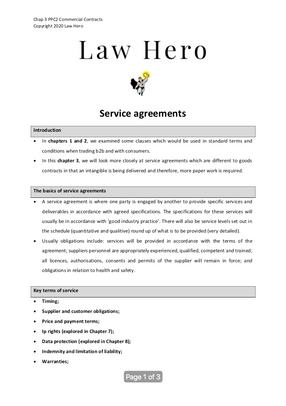 Chap 3 Service agreements