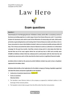 Chap 8 Exam questions