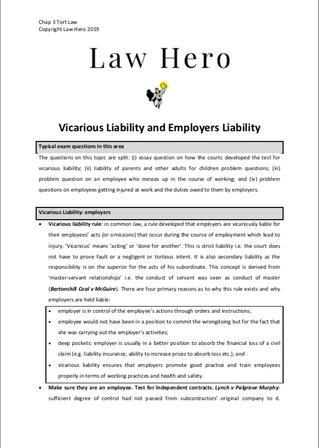 Chap 3 Vicarious liability