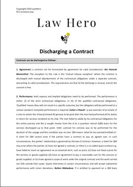 Chap 7 Discharging a contract