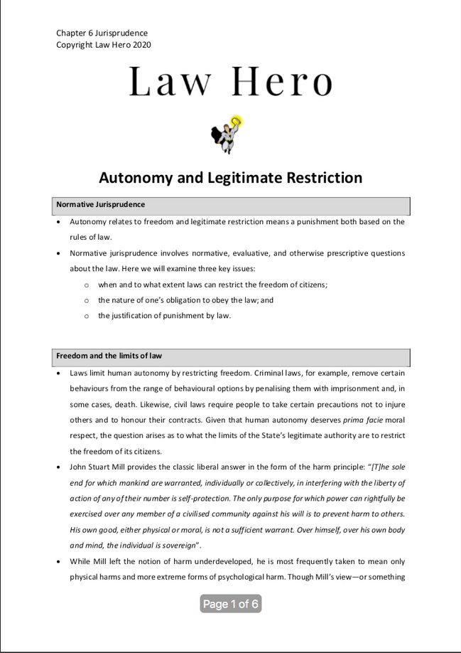 Chapter 6 Autonomy and Legitmate restriction