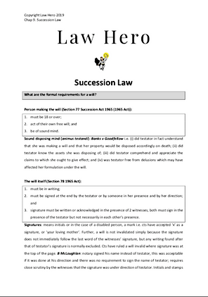 Chapter 9 Succession Law