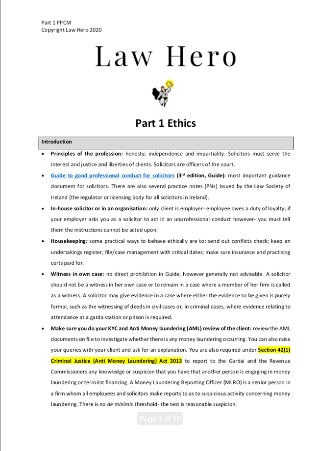 PPCM Part 1 Ethics