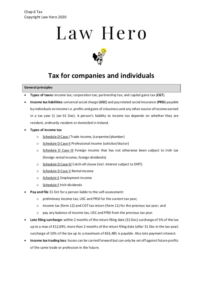 Chap 6 Tax for business