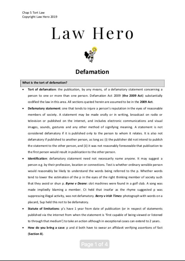 Chap 5 Defamation