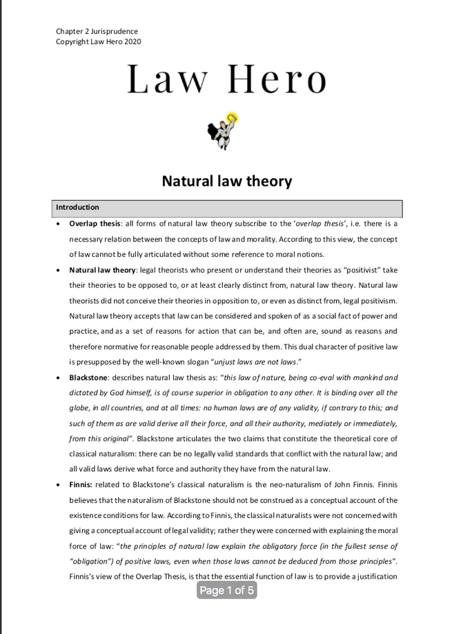 Chapter 2 Natural law theory