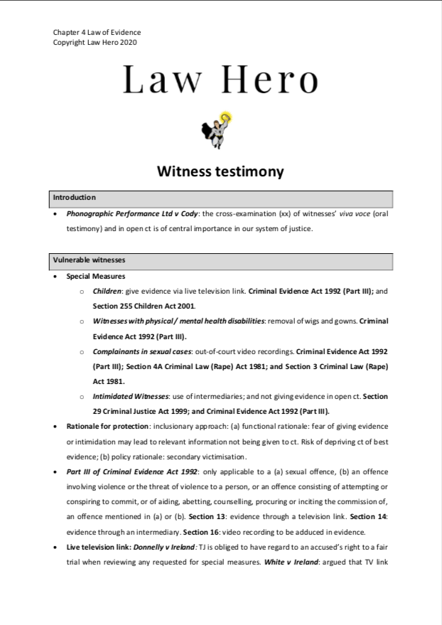 Chap 4 Witness testimony