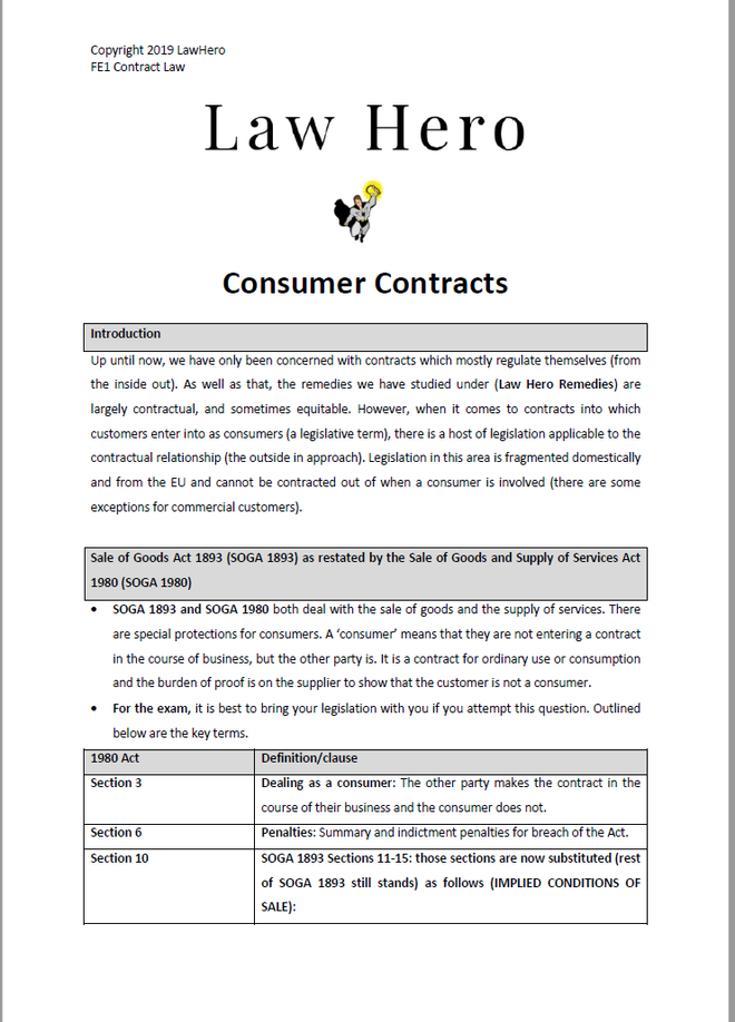 Chap 9 Consumer Contracts