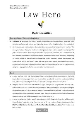 Chap 3 Debt securities