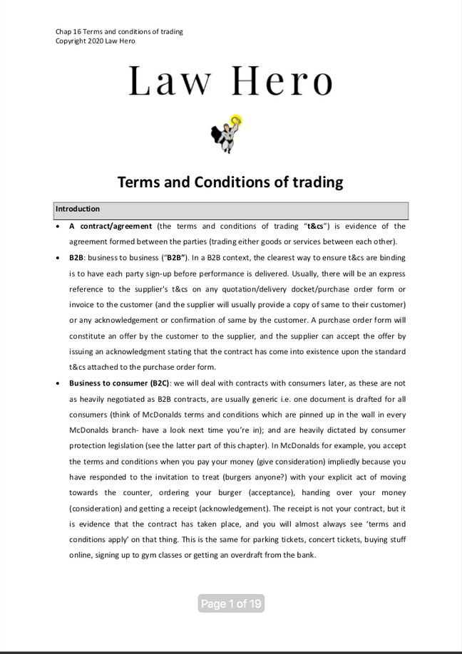 Chap 16 Terms and Conditions of Trading