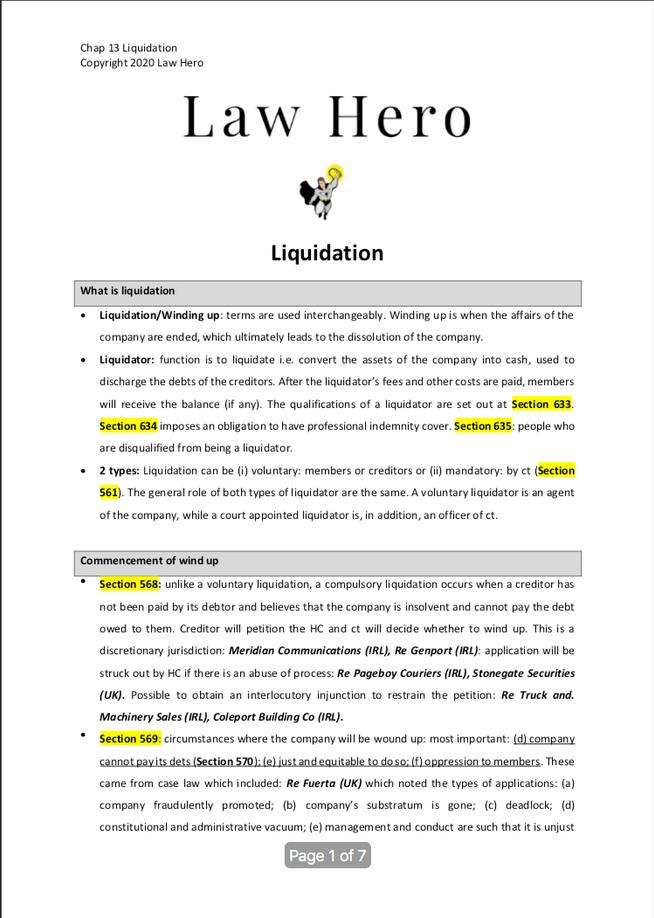 Chap 13 Liquidation