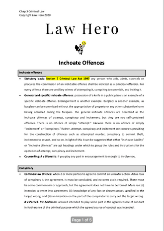 Incohate Offences