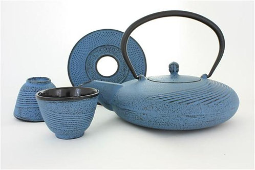 Light Blue Cast Iron Tea Set