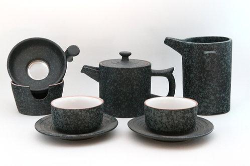 Porcelain Tea Set - 5 piece - Charcoal