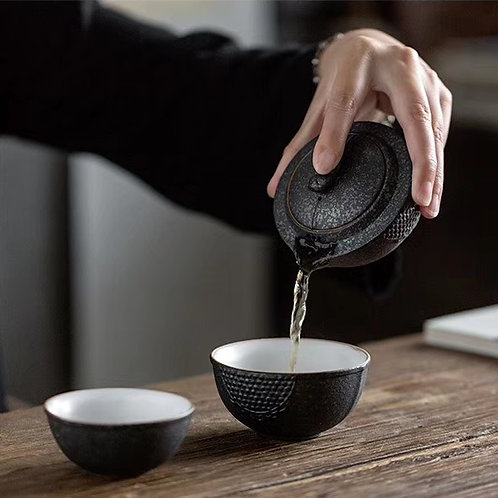 Charcoal Travel Tea Set