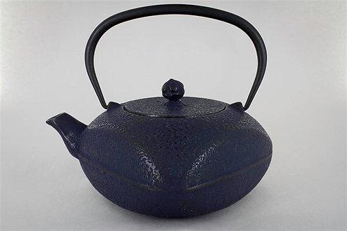 Blue Cast Iron Teapot