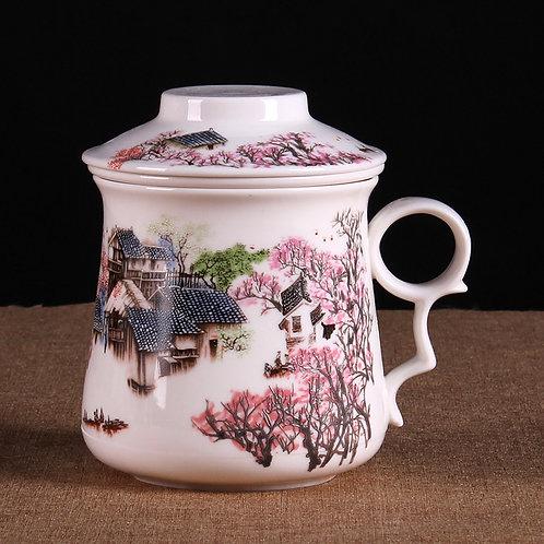 Tasse en porcelaine village