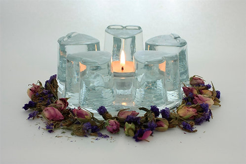 Heart Shape Glass Warmer