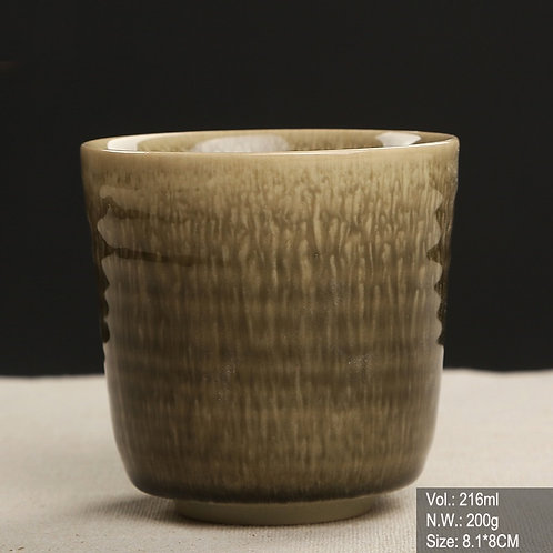 Olive Green Jun Ware Cup