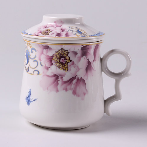 Peony Porcelain Cup