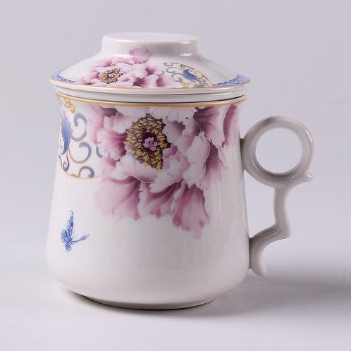 Tasse en porcelaine pivoine