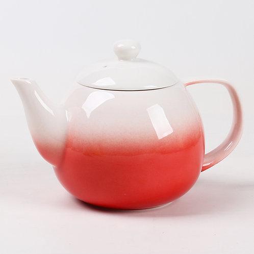 Red Dawn Porcelain Teapot