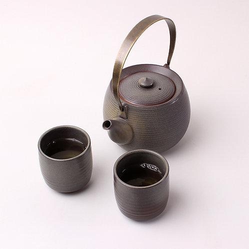 Taupe Porcelain Teaset
