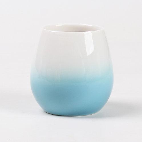 Blue Dusk Porcelain Teacup