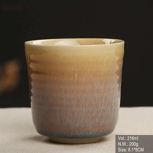 Yellow Jun Ware Cup