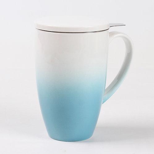 Tasse à thé en porcelaine bleu «Horizon»