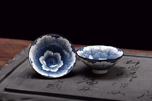 Peony Porcelain Teacup