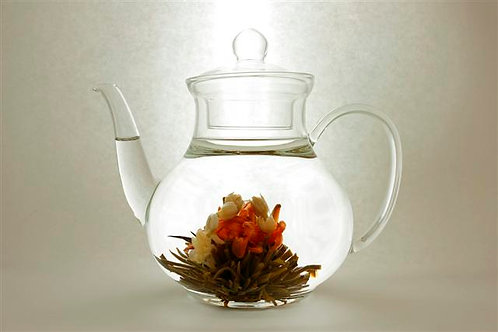 Pear Shaped Glass Teapot (1200 ml)