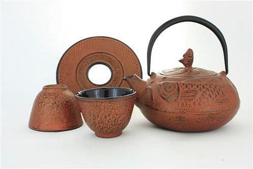 Copper Cast Iron Tea Set